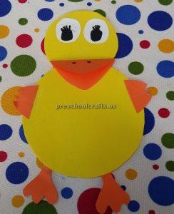 Preschool duck craft idea