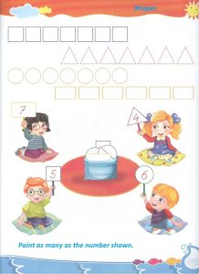 Preschool shapes worksheet
