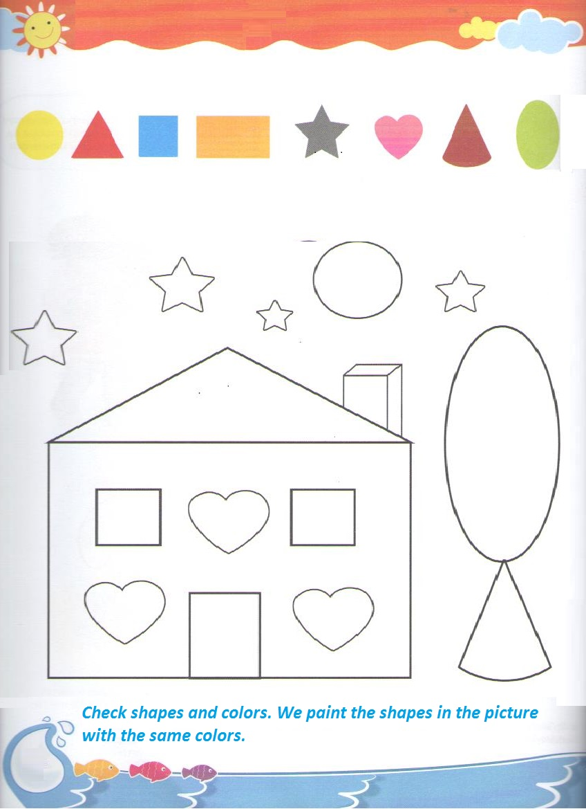 shape coloring worksheet for kindergarten and preschool preschool crafts. Black Bedroom Furniture Sets. Home Design Ideas