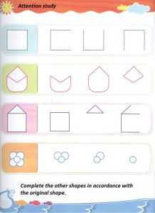 Shapes worksheet for preschooler