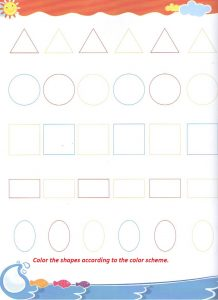 Shapes worksheets preschool