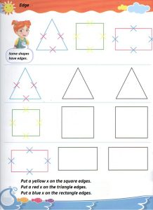 Sides of the shapes worksheet for preschool and kindergarten