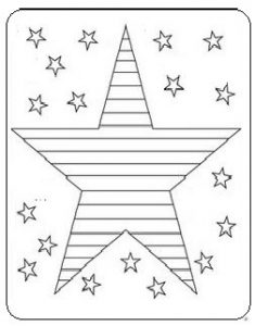 Star Coloring Pages for Kids - Memorial Day coloring pages