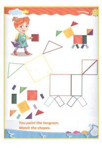 Tangram teaching worksheet for preschool