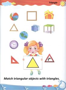 Triangle teaching worksheet for preschool