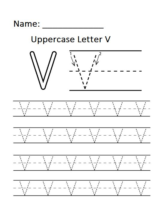 uppercase alphabet letter v worksheet for preschool preschool crafts. Black Bedroom Furniture Sets. Home Design Ideas