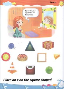 Worksheet to square for preschool