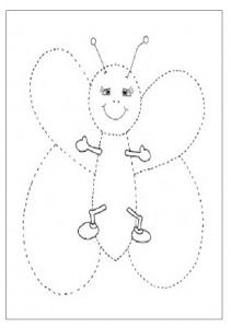 butterfly tracing worksheet for preschooler free printable