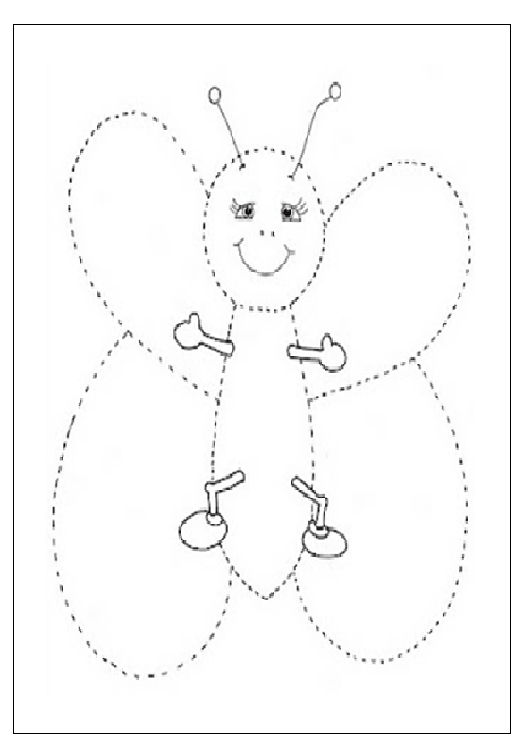 Free Printable Worksheets Art : Butterfly tracing worksheet for preschooler free printable