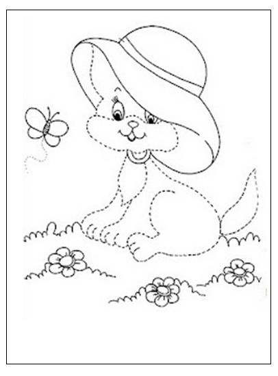 cat tracing worksheet for preschooler free printable