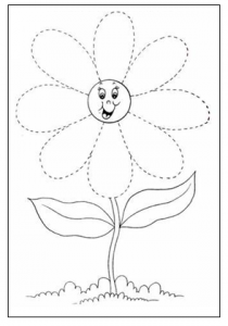daisy tracing worksheet for preschool free printable