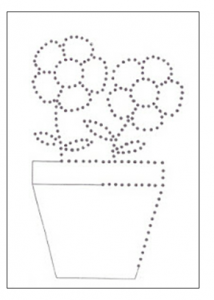 flowers tacing worksheet for kindergarten and preschool