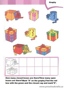 free colored printable graph worksheets for preschool