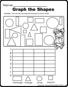 free printaple shapes graphic worksheets for kids