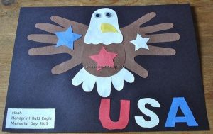 handprint eagle craft for memorial day