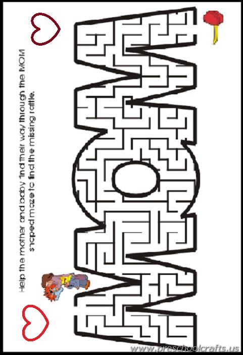 Worksheets For Mothers : Kindergarten free printable mothers day worksheets
