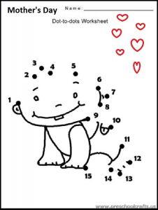 kindergarten free printable mothers dayworksheets
