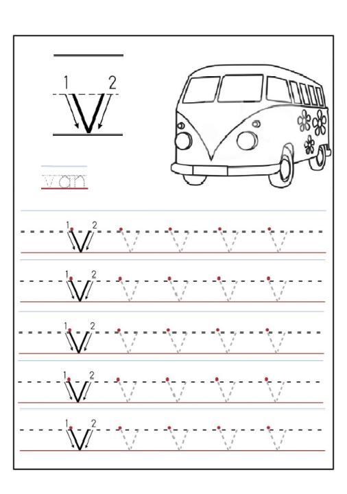 lowercase letter v worksheet v is for van preschool crafts. Black Bedroom Furniture Sets. Home Design Ideas
