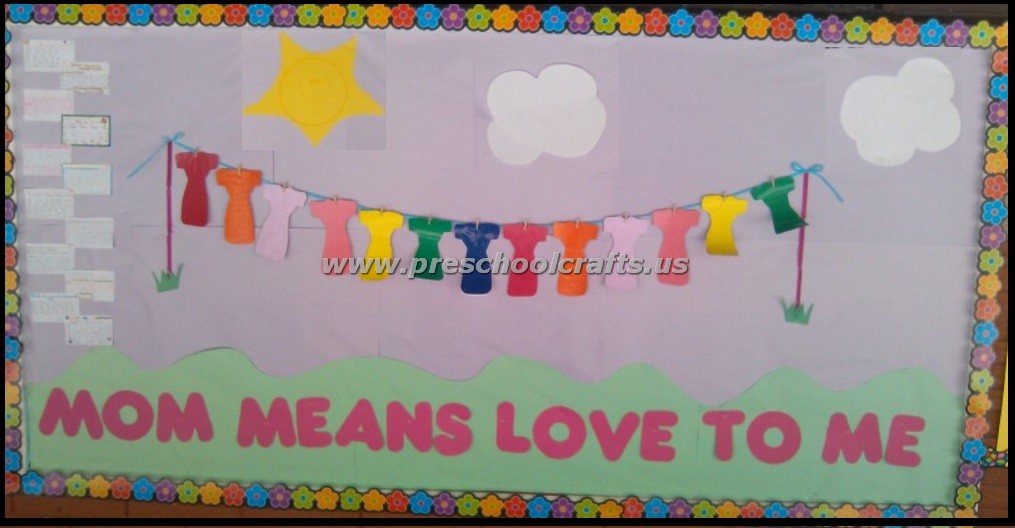 Mothers Day Bulletin Boards on shapes worksheets for kindergarten