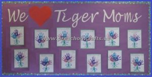 mothers day handprint flowers bulletin boards for preschoolers