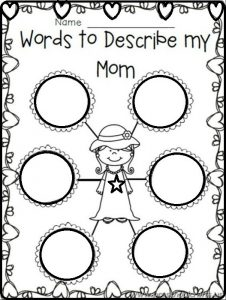 mothers day printable workpages for primary school