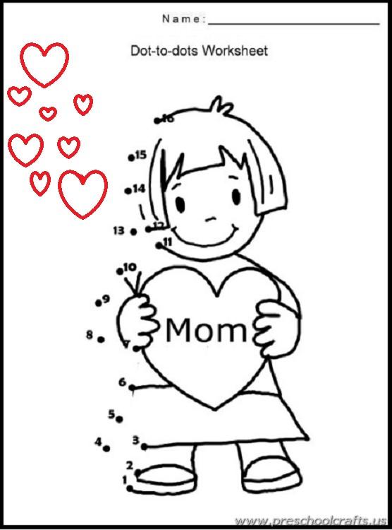 Preschool mothers day worksheets preschool crafts for Mother s day activities for preschoolers