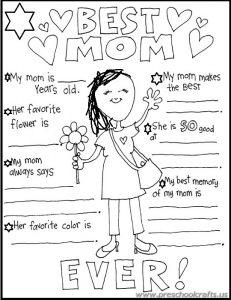 free printable mother 39 s day worksheets for kids. Black Bedroom Furniture Sets. Home Design Ideas
