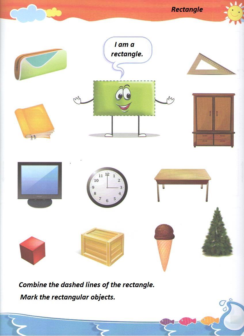 rectangle worksheet for preschool Preschool Crafts – Rectangle Worksheet