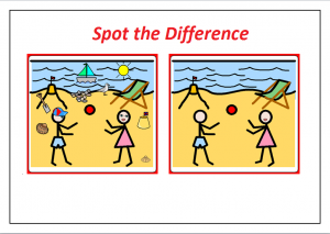 spot the difference worksheet for preschooler