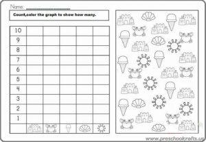 summer graph worksheets printable
