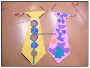 Father's Day Dad tie Craft Ideas for Preschool and Kindergarten