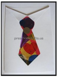 Father's Day tie Craft for Preschool and Kindergarten