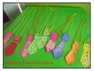Happy Father's Day tie Craft Ideas for Preschool and Kindergarten