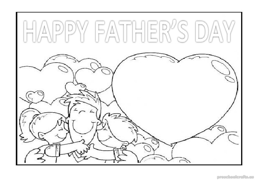 free printable happy fathers day coloring pages for kindergarten