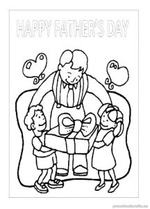 happy fathers day coloring pages for kindergartners - free printable