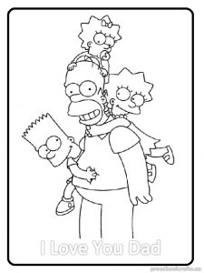 Happy Father\'s Day Coloring Pages for Kids - Preschool and Kindergarten