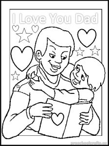 happy fathers day colouring pages for preschoolers