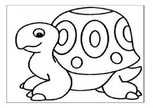Tortoise coloring pages for preschool - Turtle coloring pages for kindergarten