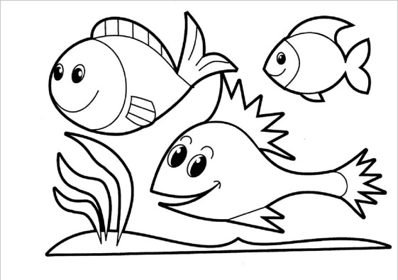 printable fish coloring pages for
