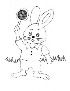 rabbit coloring pages for kindergarten and preschool free printable