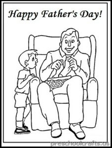 Father's Day Coloring Pages for Pre school and Kindergarten