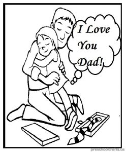 Father\'s Day Coloring Pages for Kindergarten and Preschool ...