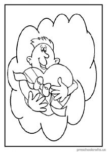 Happy Father's Day Coloring Pages for Pre school and Kindergarten