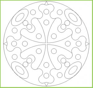 Mandala Coloring Page for Kindergarten - Free Printable