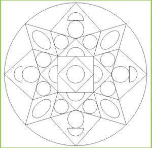 Mandala Coloring Page for Preschool - Free