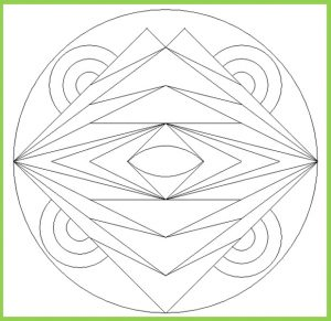 Mandala Coloring Page for Preschool - Free Printable