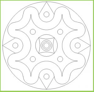 Mandala Colouring Pages for Kindergarten - Free Printable