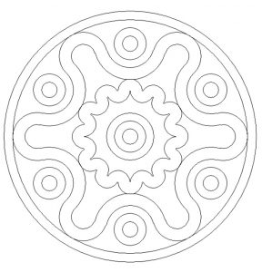Printable Mandala Colouring Pages for Preschoolers