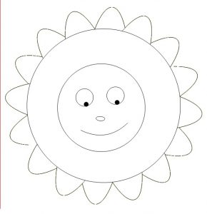 Sunny Mandala Coloring Pages for Kindergarten - Free Printable