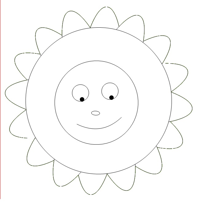Sunny Mandala Coloring Pages for Kindergarten Free